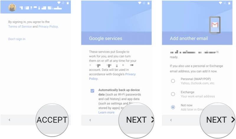 Backup des Samsung Handys auf das Google-Konto - Schritt 4