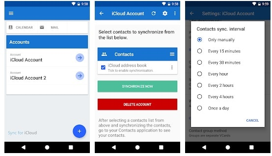 icloud contacts to android sync app - 1