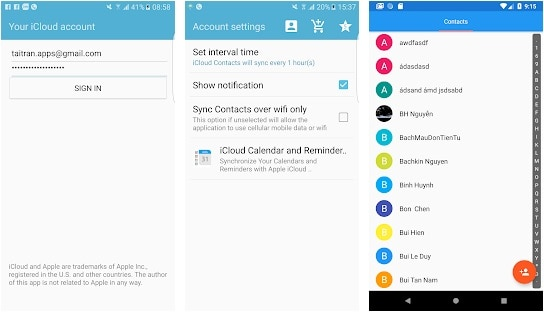 icloud contacts to android sync app - 2