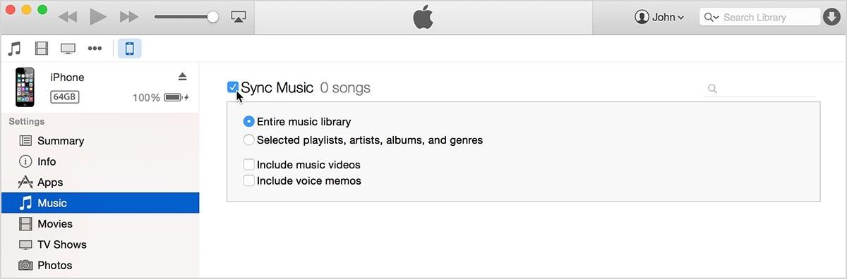 iPhone-Daten mit iTunes synchronisieren