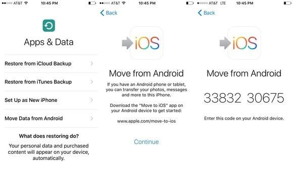 نقل الصور من samsung إلى iphone باستخدام Move to iOS