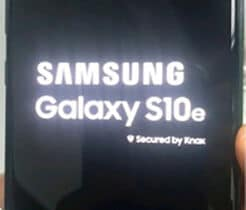 samsung S10 stuck at boot screen