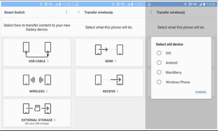 transfer contacts with smart switch - sign in to icloud