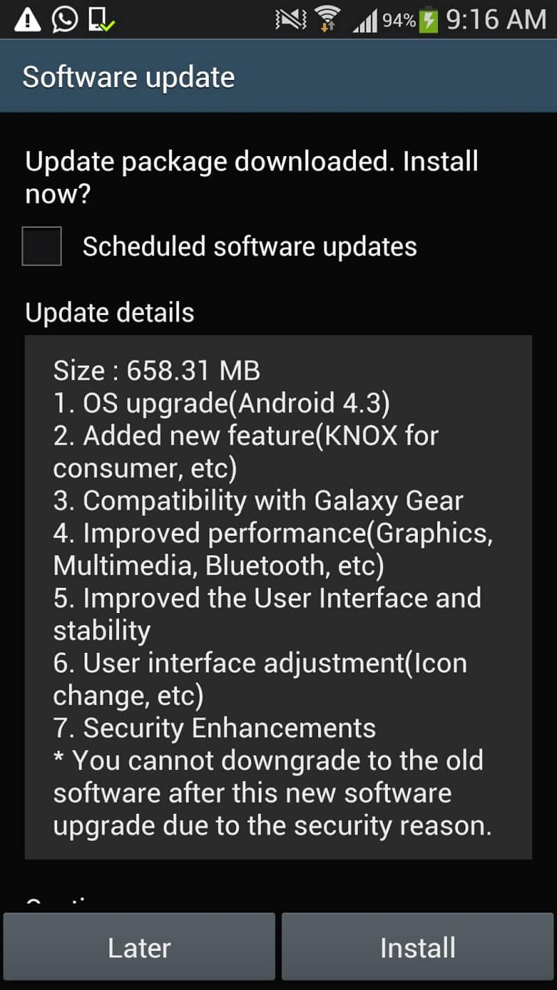 bouton d'accueil android qui ne fonctionne pas - mise à jour android