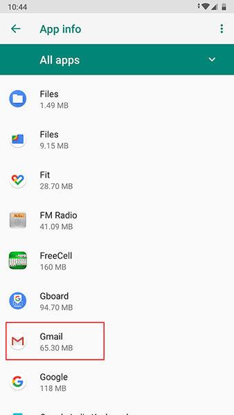 gmail funktioniert nicht auf Android - gmail suchen