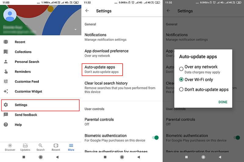 update google services to fix instagram not responding
