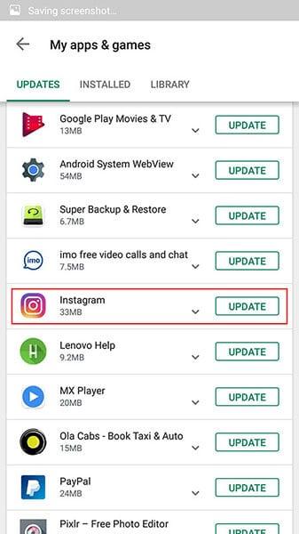 update to fix instagram not responding