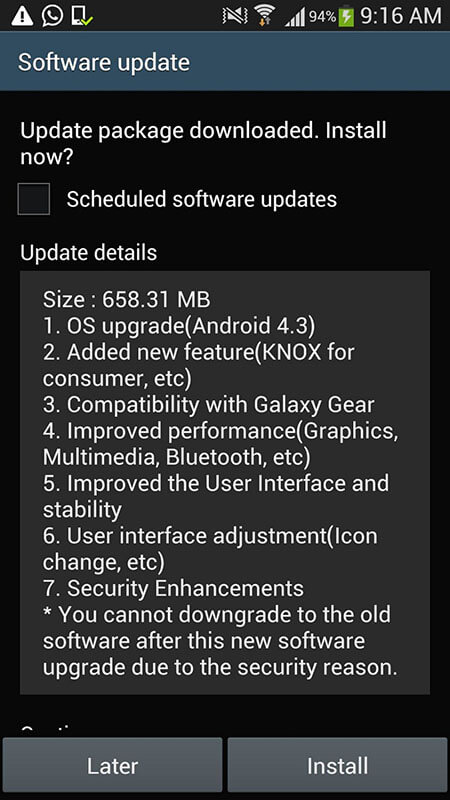 offline videos not playing on android - check updates