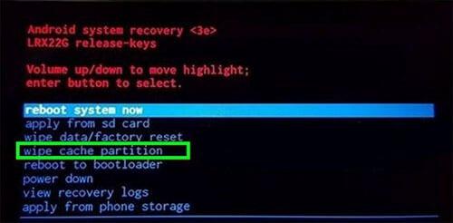 arrêt de l'application Contacts - effacer la partition cache