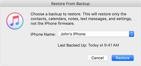 factory reset iphone 5c - restore with itunes