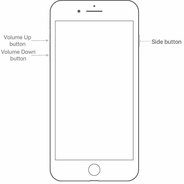 hard reset iphone 8