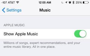 apple music ein- und ausschalten