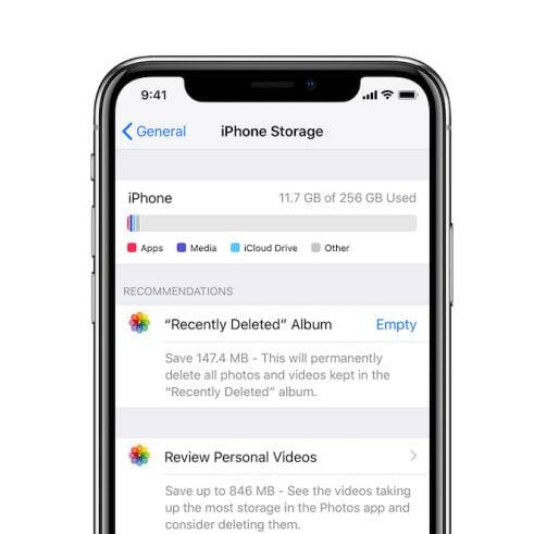 Inhalt vom iPhone löschen