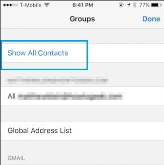 Show All Contacts