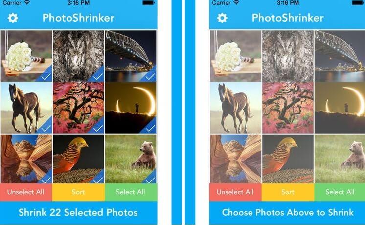 photo or video compressor - PhotoShrinker