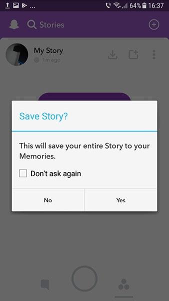 save snapchat history