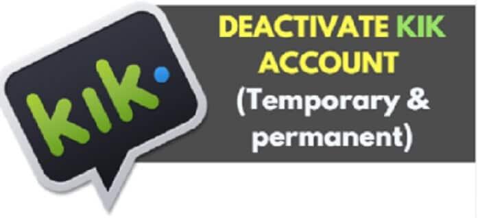 disattiva l'account Kik - 2 scelte