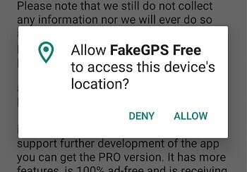 access device's location