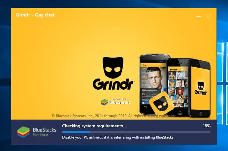 complete the installation of Grindr