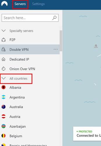 VPN's settings