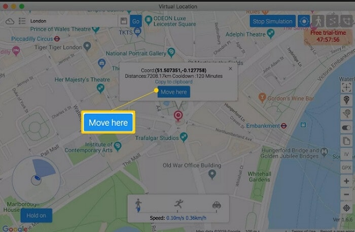 launch a map-like interface