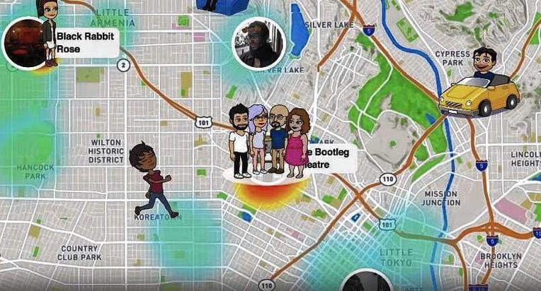 Snapchat interface