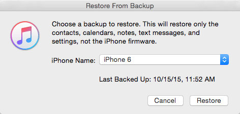 contacts from itunes backup
