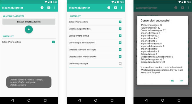 transfer whatsapp from iphone to samsung by wazzapmigrator 2