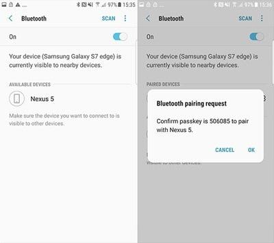 Come trasferire foto da Android ad Android tramite dispositivi Bluetooth-Accoppiamento