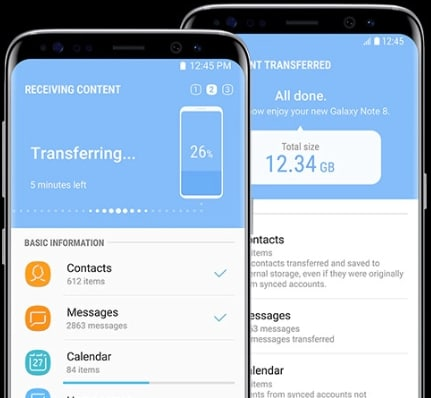 Come trasferire foto da Android ad Android tramite Smart Switc-Start Transfer tramite Smart Switch