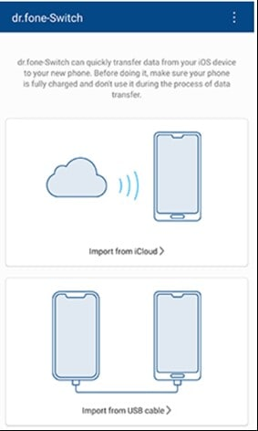 transfer data from iphone to samsung s20 by drfone app 1