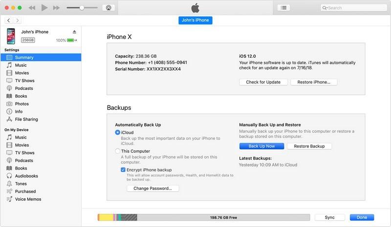 backup iphone senza icloud 4