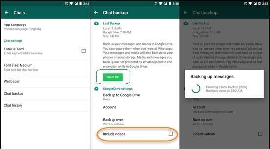 backup whatsapp to google drive 1