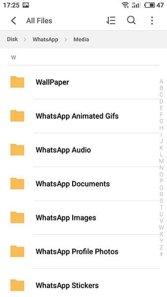 بطاقة ذاكرة Whatsapp