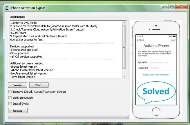 activation lock unlock software