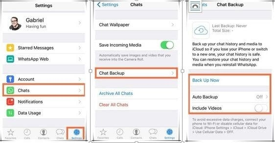 Whatsapp business backup