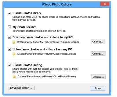 iCloud photo option