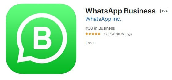 Bild 2 WhatsApp Business iOS