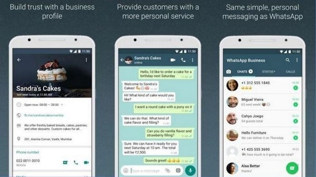 Bild 2 WhatsApp Business Online-Status