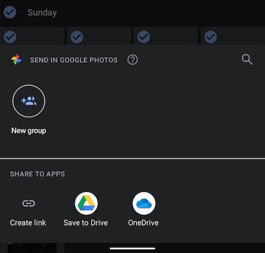 Share to OneDrive Option