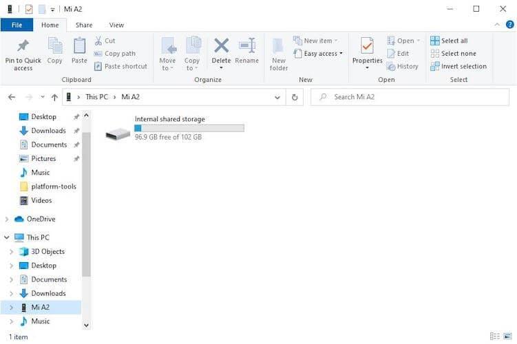 Phone detection in Windows File Explorer