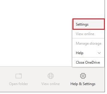 How to switch OneDrive account