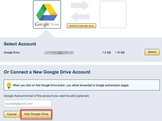 add google drive account