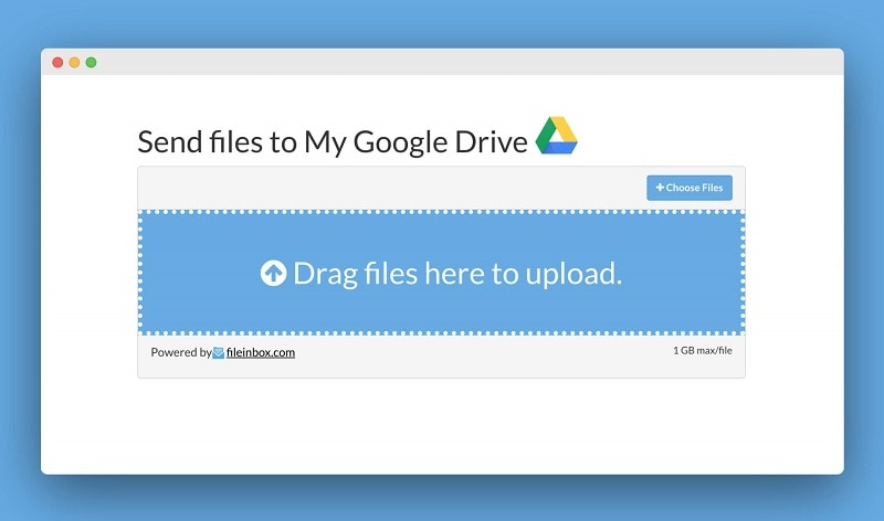 drag and drop files to upload