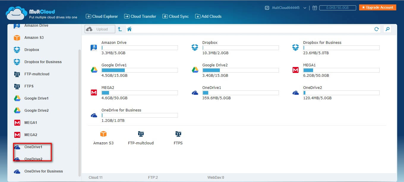 manage one drive accounts