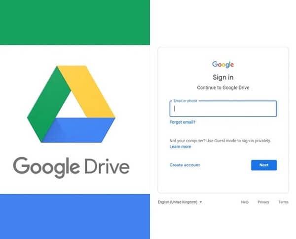 Login google drive