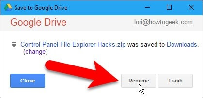 Renaming the file