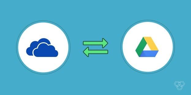 Datei zwischen google drive und onedrive übertragen