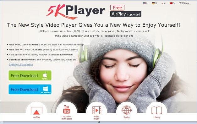 download 5kplayer and install