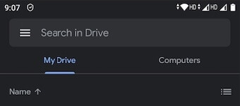 Check if you are in My Drive in Google Drive